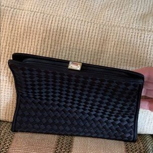 Bottega Veneta silk evening bag with stone clasp